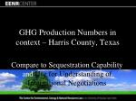 ghg production numbers in context harris county texas