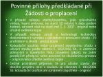povinn p lohy p edkl dan p i dosti o proplacen1