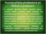 povinn p lohy p edkl dan p i dosti o proplacen2