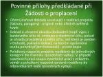 povinn p lohy p edkl dan p i dosti o proplacen4