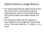object distance image distance