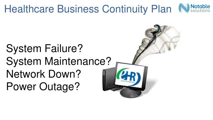healthcare business continuity plan n.