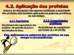 4 2 aplica o dos profetas