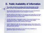 ii public availability of information
