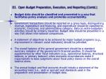 iii open budget preparation execution and reporting contd