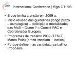 international conference vigo 7 11 0811