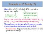 example of ls family 2