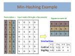 min hashing example1