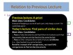 relation to previous lecture1