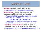 summary 3 steps