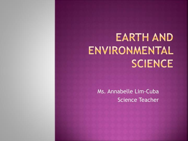 earth and environmental science n.
