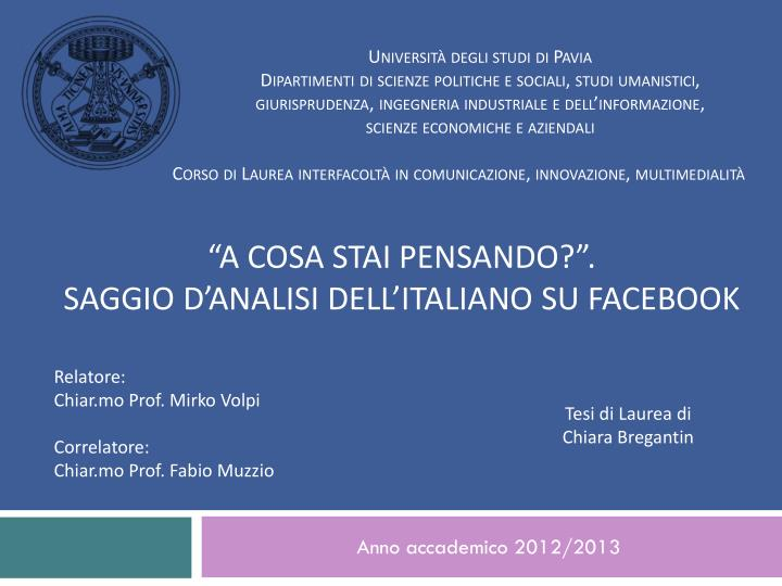 anno accademico 2012 2013 n.