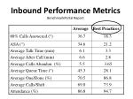 inbound performance metrics benchmarkportal report