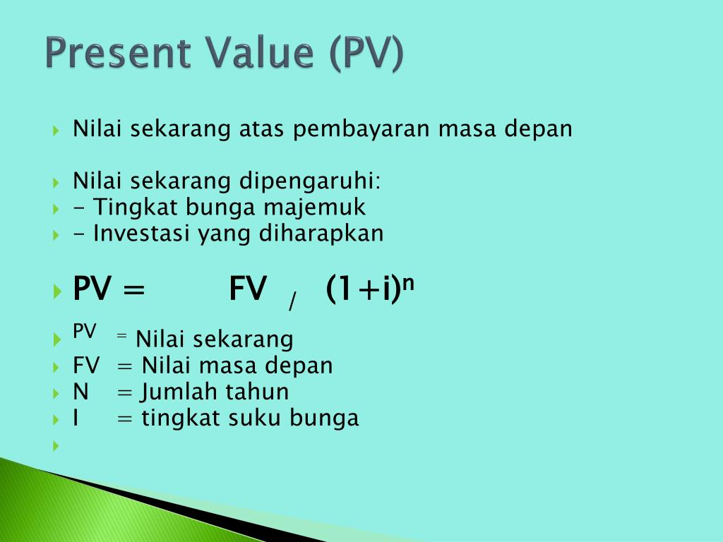 PPT - NILAI WAKTU UANG (TIME VALUE OF MONEY) PowerPoint