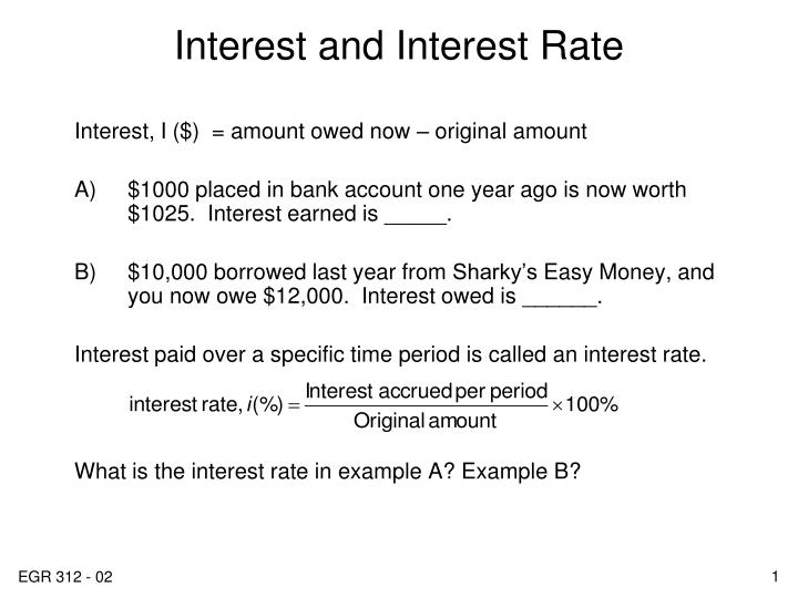 interest and interest rate n.