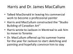 harris and dr james maccallum