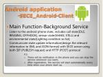 android application sece android client