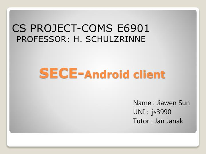 sece android client n.