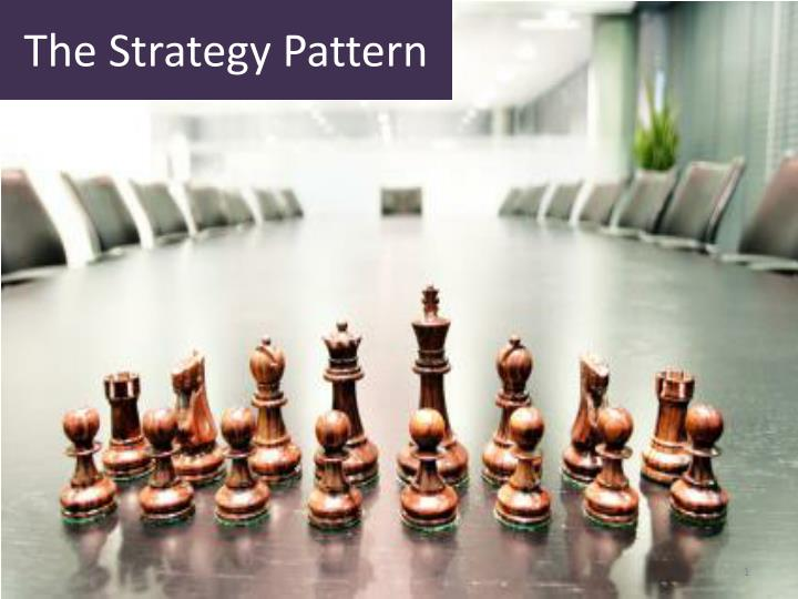 the strategy pattern n.