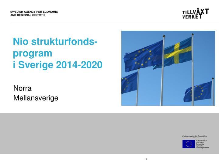 Nio strukturfonds program i sverige 2014 2020