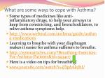 what are some ways to cope with asthma