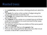 rooted trees