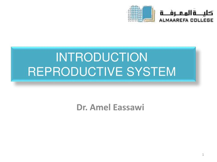 introduction reproductive system n.