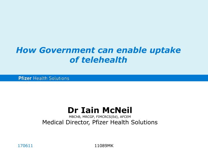 how government can enable uptake of telehealth n.