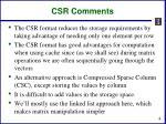 csr comments