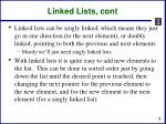 linked lists cont