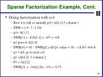 sparse factorization example cont