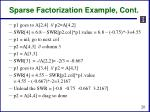 sparse factorization example cont1