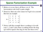 sparse factorization example