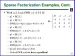 sparse factorization examples cont1