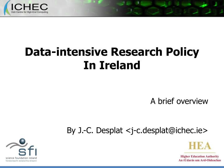 data intensive research policy in ireland n.