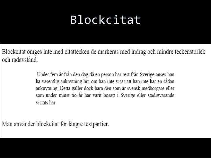 Blockcitat