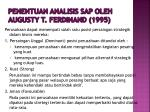 penentuan analisis sap oleh augusty t ferdinand 1995