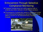enforcement through selective compliance monitoring2