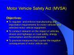 motor vehicle safety act mvsa