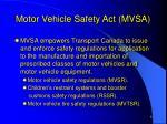 motor vehicle safety act mvsa1
