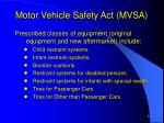 motor vehicle safety act mvsa3