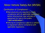 motor vehicle safety act mvsa4