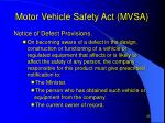 motor vehicle safety act mvsa7