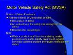 motor vehicle safety act mvsa8