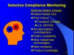 selective compliance monitoring1