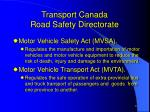 transport canada road safety directorate1