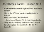 the olympic games london 2012