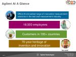 agilent at a glance