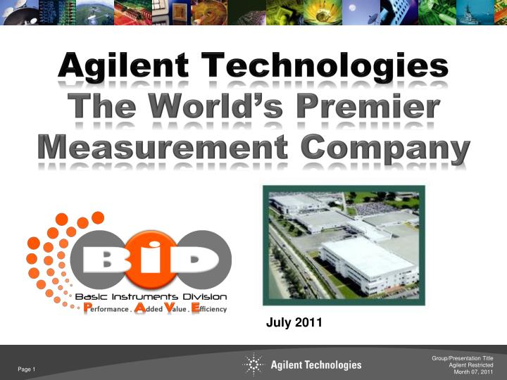 agilent technologies the world s premier measurement company n.