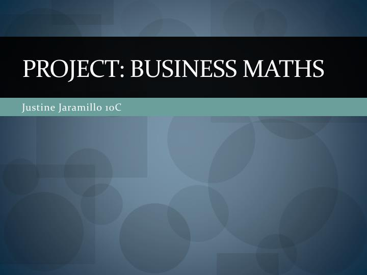 project business maths n.